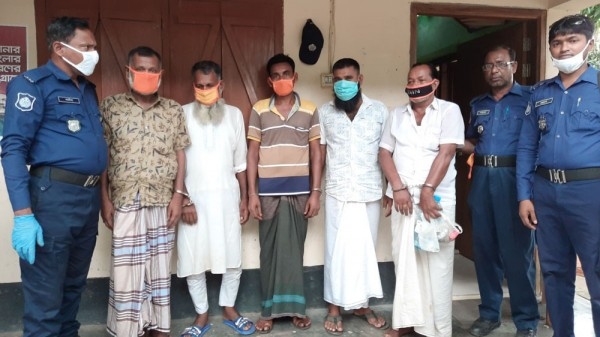 Takerhat  5Gambler Arrested Pic (1) 24.5.2020